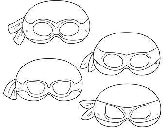 printable teenage mutant ninja turtle mask template Google