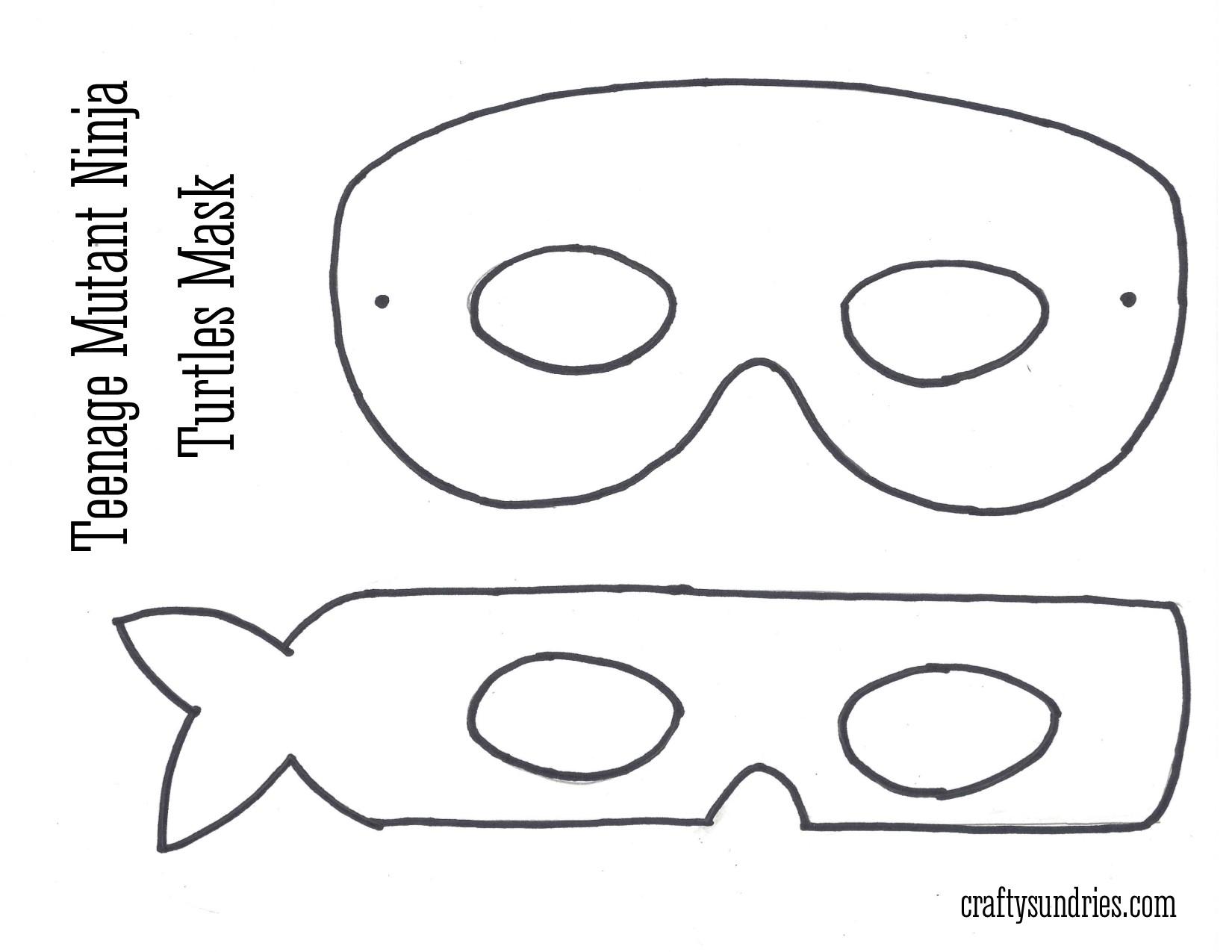 Ninja Turtle Mask Template beepmunk