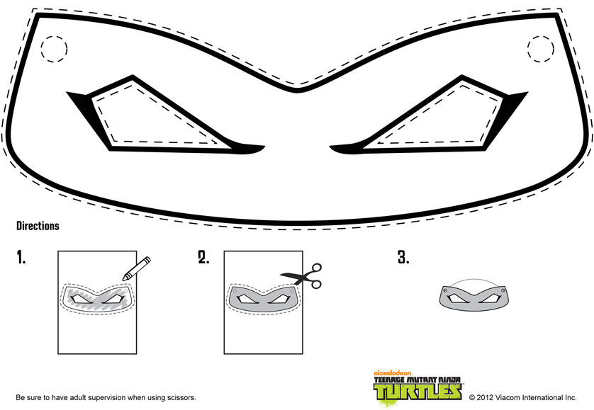 photograph about Ninja Turtle Mask Printable named Ninja Turtle Masks Template