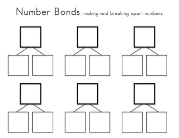 This number bond template can be printed and laminated to create