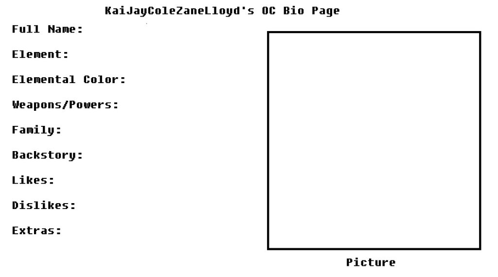 OC Bio Page by KaiJayColeZaneLloyd on DeviantArt