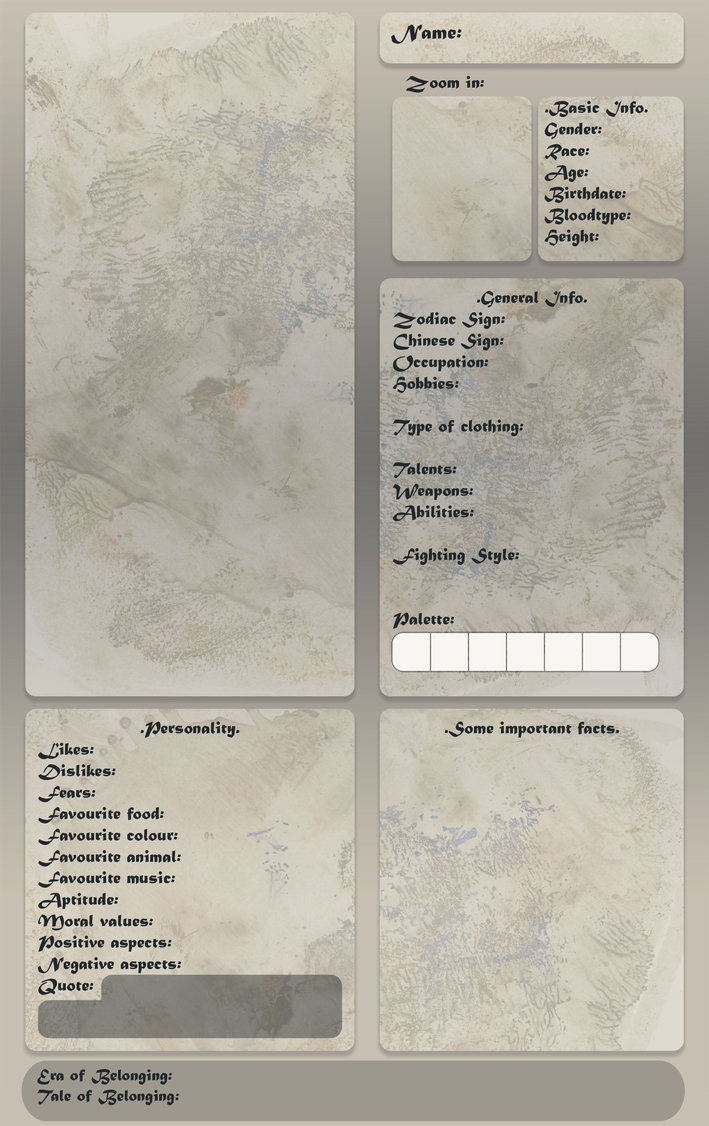 OC Reference Sheet Template by Cyclonante on DeviantArt
