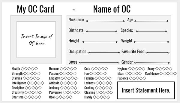OC Card Template by SleepyBebe on DeviantArt