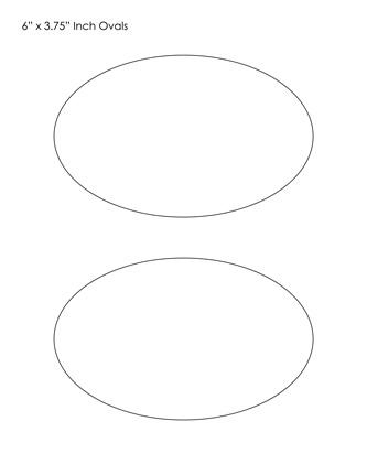 Printable Oval Template