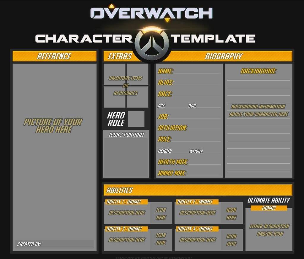 Basic OC Template   Wiki   Overwatch Amino