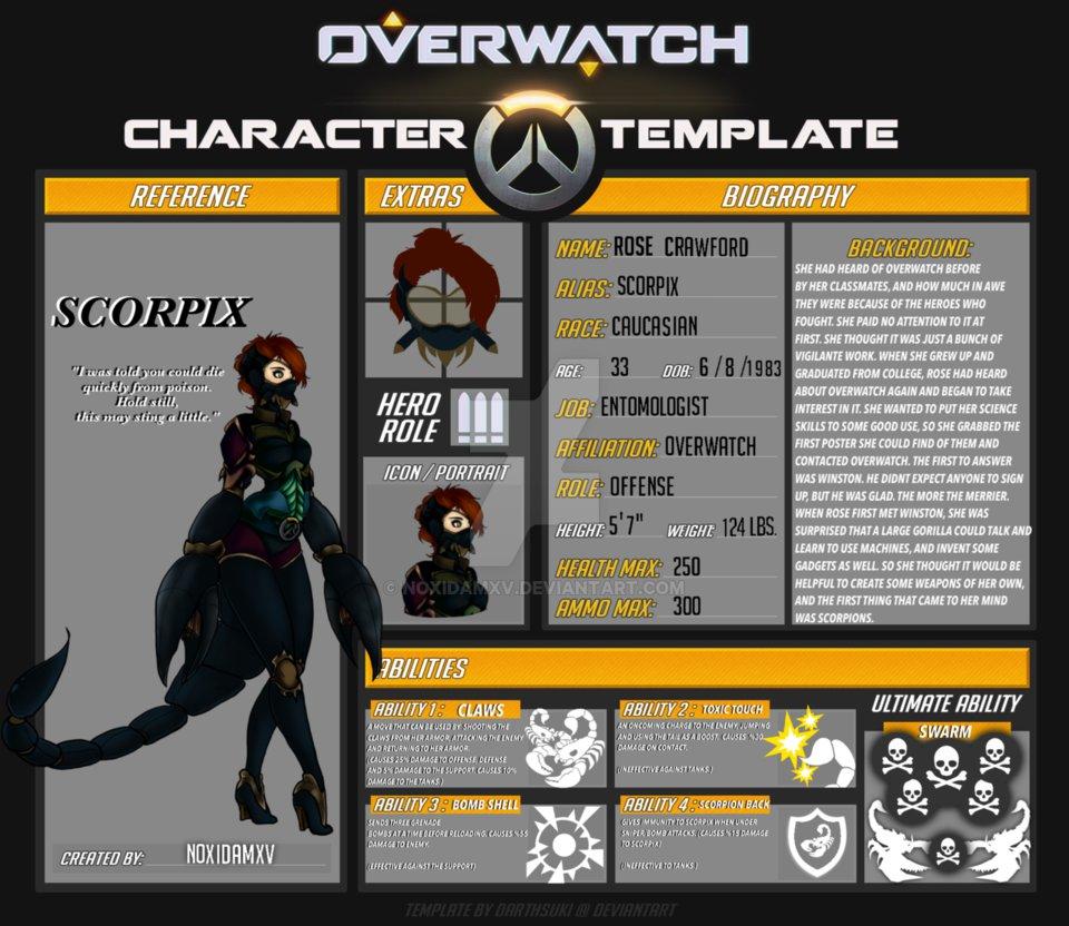 Overwatch oc: Scorpix by NoxidamXV on DeviantArt