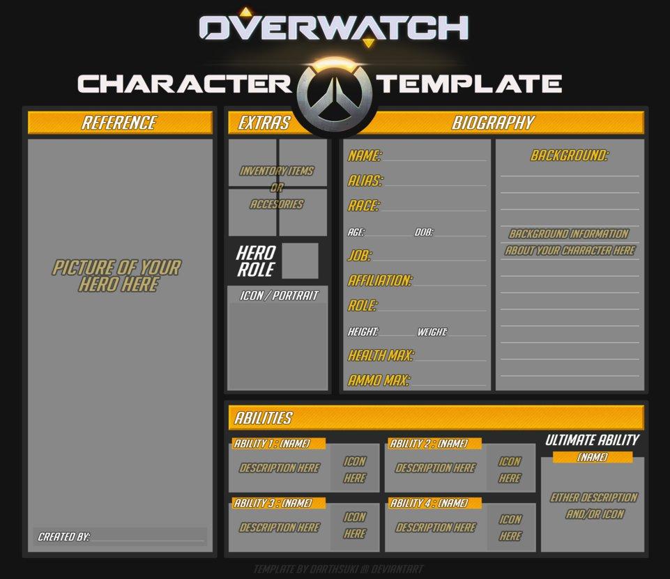 Overwatch Original Hero Template by DarthSuki on DeviantArt