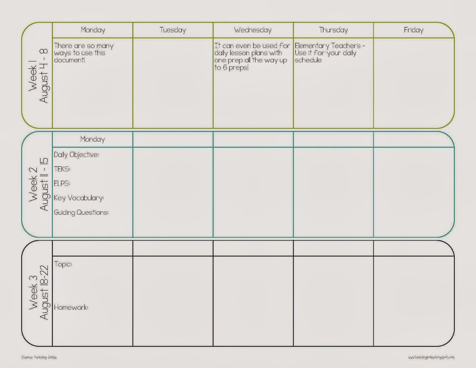 pacing calendar template for teachers April.onthemarch.co