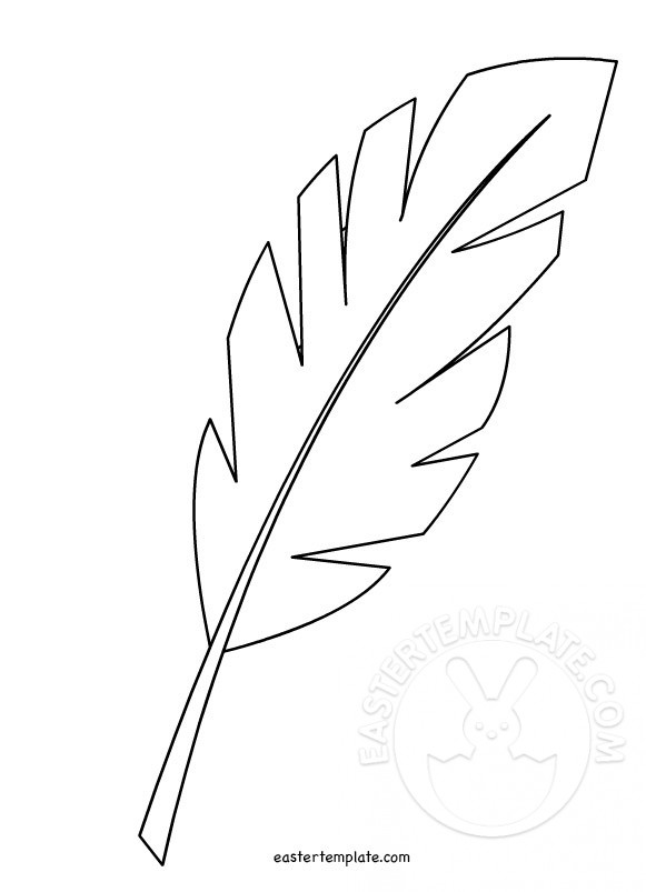Palm leaf pattern. Use the printable outline for crafts, creating
