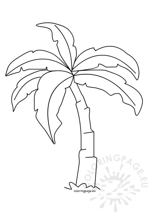 picture relating to Palm Tree Printable identify Palm Tree Template