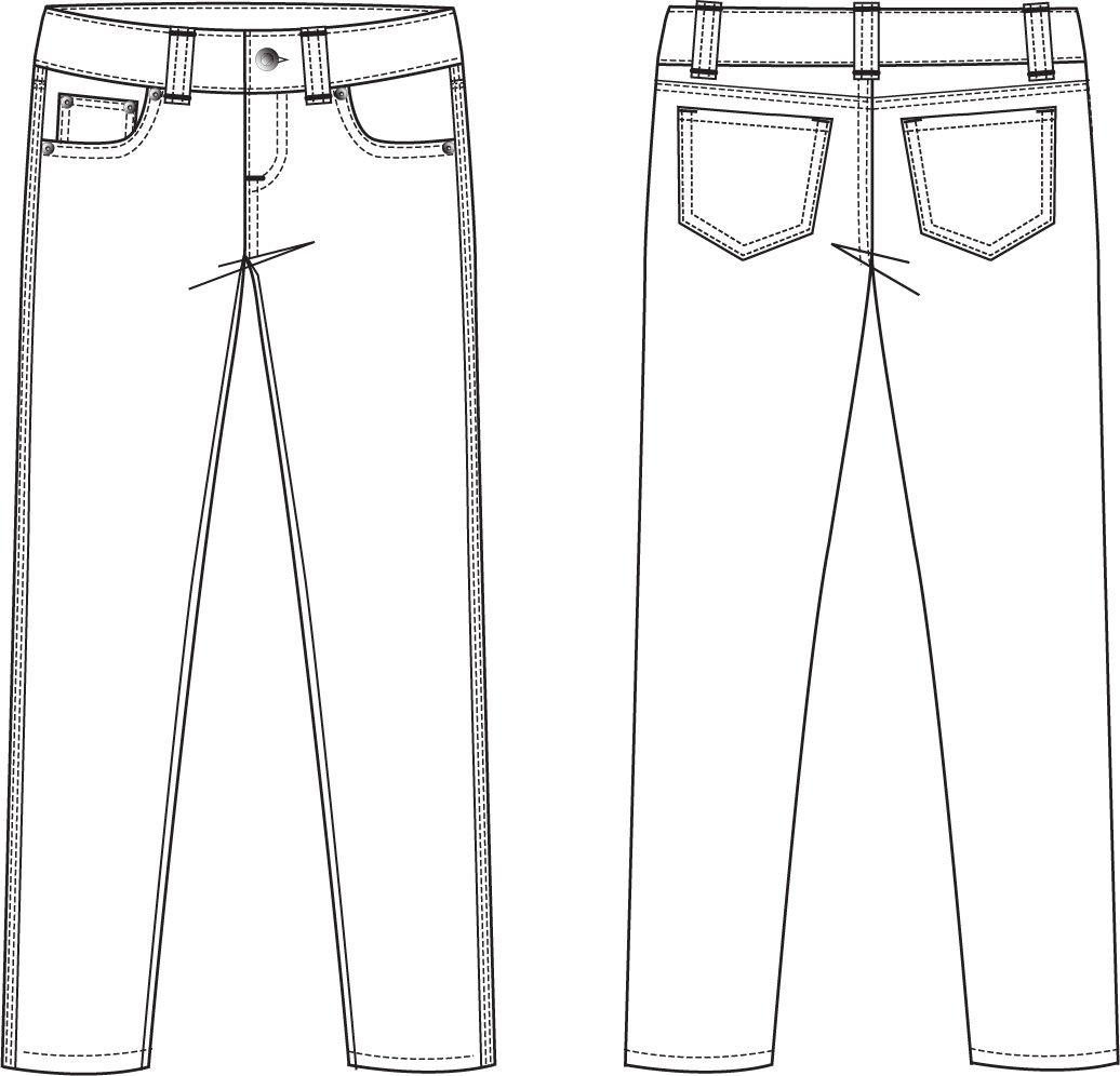 Printable Pants Template