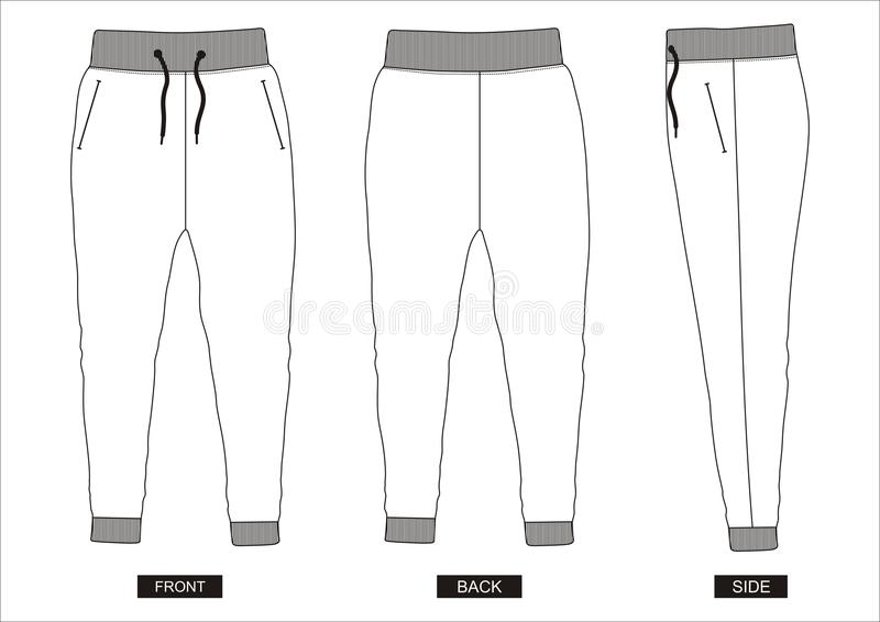 Pants pattern. Use the printable outline for crafts, creating