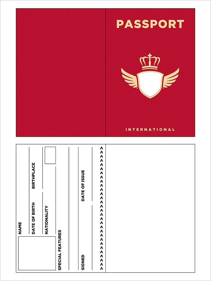 10+ Passport Templates Free Word, PDF Documents Download   For E