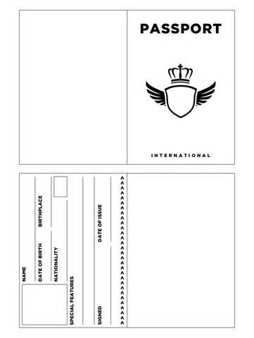 Editable Passport Template by Emily S   Teachers Pay Teachers