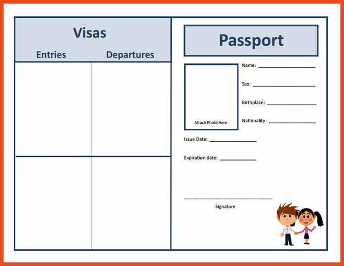 Passport Template – 19+ Free Word, PDF, PSD, Illustrator Format