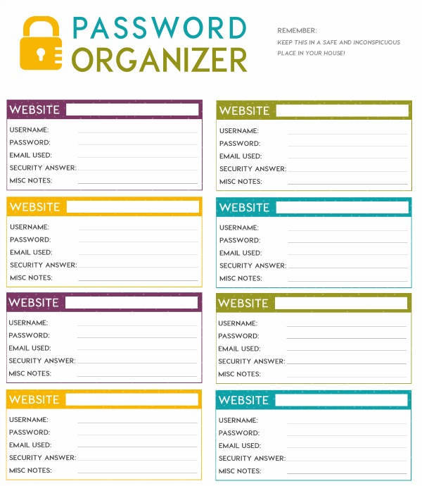 password organizer template word April.onthemarch.co