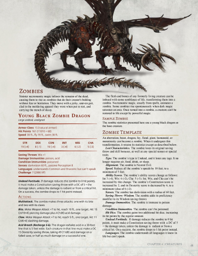 Zombie Dragon D&D, this monster can be found in the 3.5th Edition