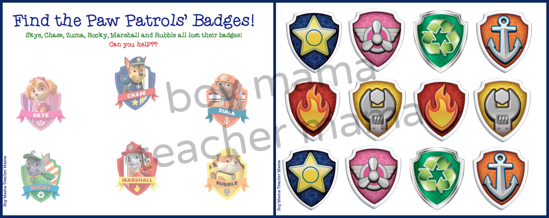 PAW patrol badge printable template | Lucy turns 2 | Pinterest