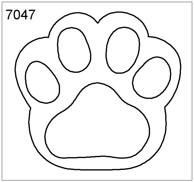 Printable Dog Paw Print Template