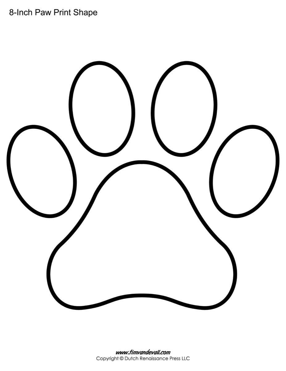 Paw Print Template Shapes | Blank Printable Shapes