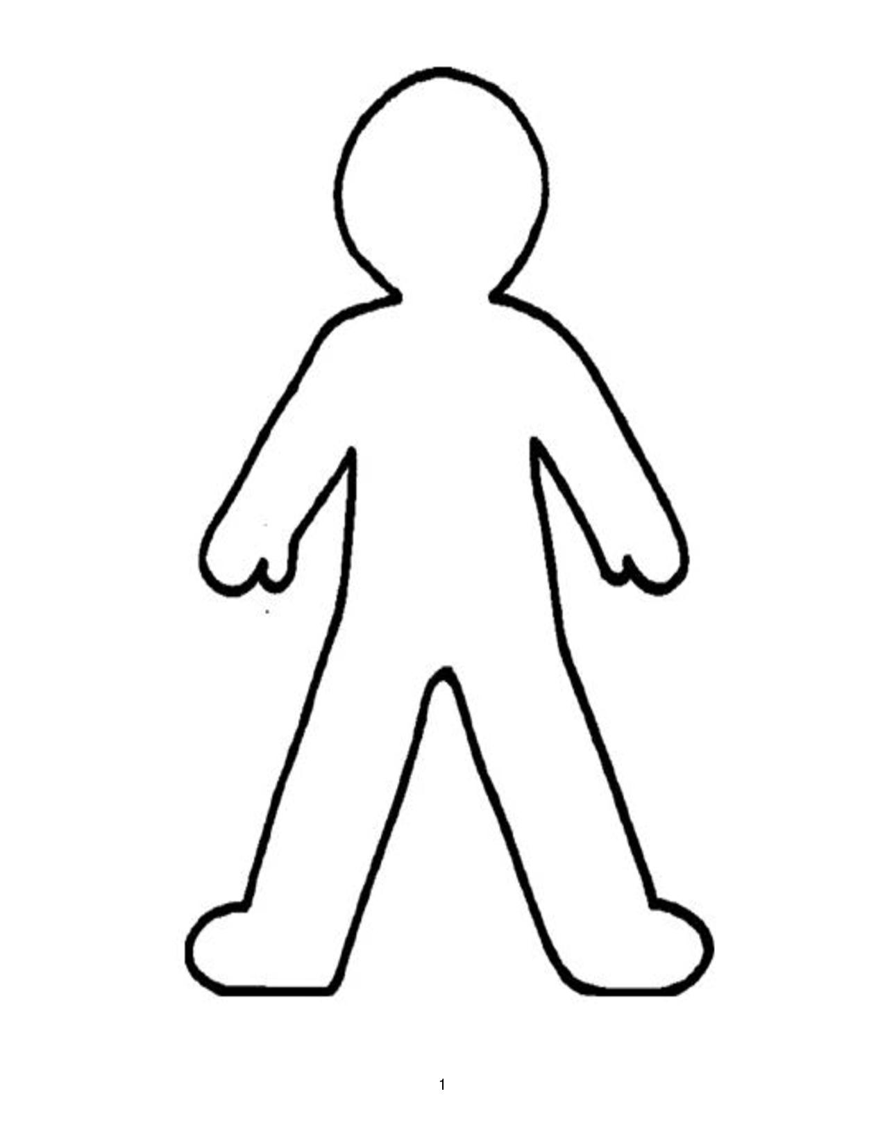 paper person template | Person Outline | Superhero camp