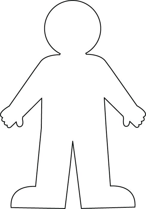 Person pattern. Use the printable outline for crafts, creating