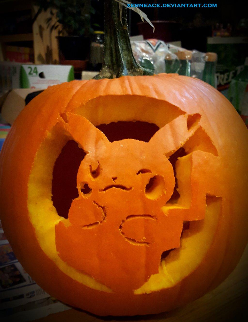 pikachu pumpkin template