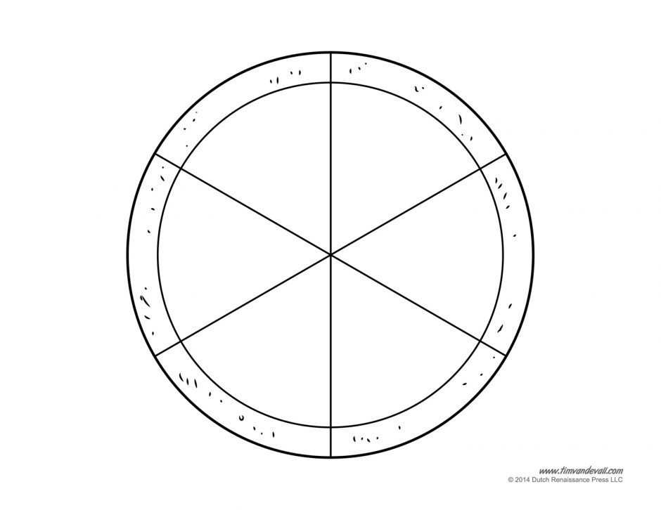 blank pizza template printable craft for kids fractions workshee
