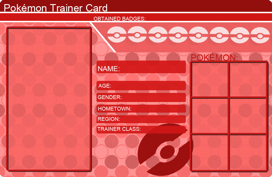 Pokemon Trainer Card Template Red by khfanT on DeviantArt