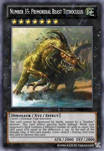 Number 35: Primordial Beast Tetroculus | Yu Gi Oh Card Maker Wiki
