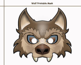 Free Printable Wolf Mask Template | Scouting | Pinterest | Wolf