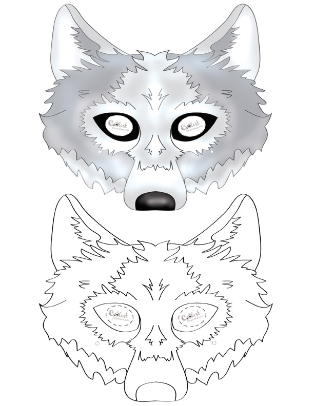 Printable Wolf Mask Coolest Free Printables | School: Aesop's