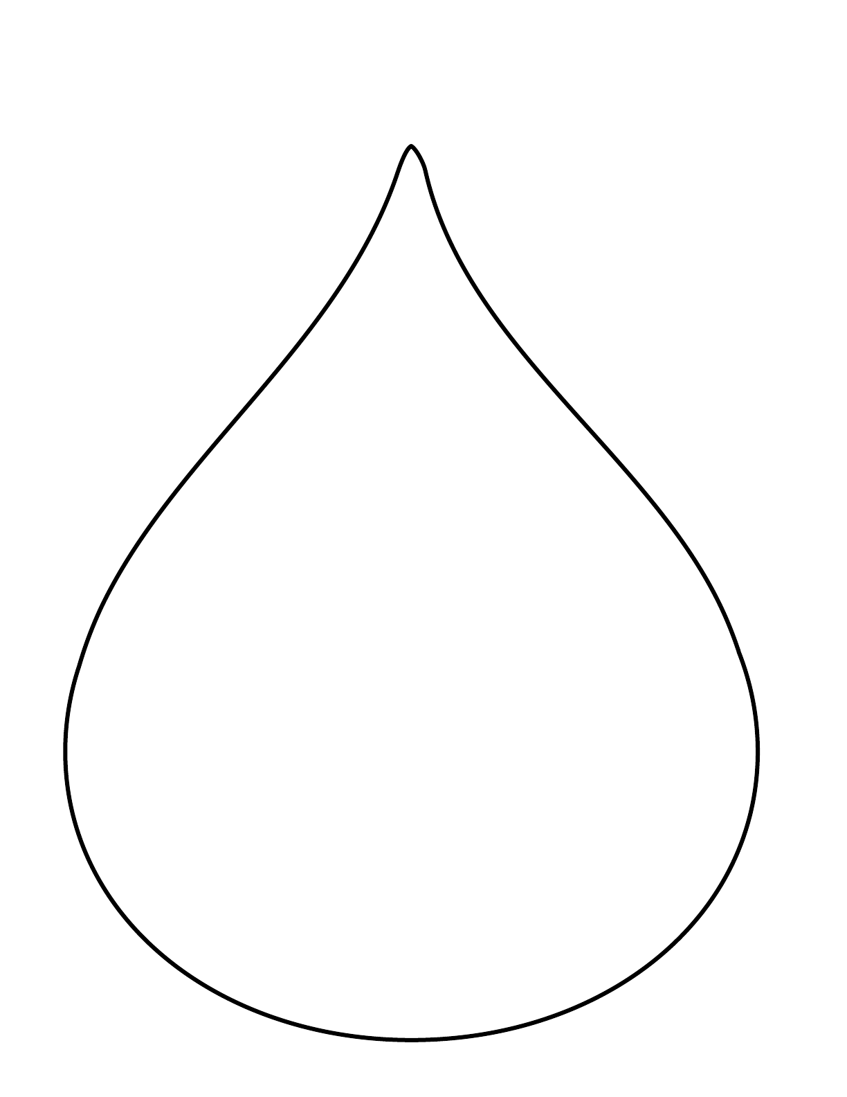 Small raindrop pattern. Use the printable outline for crafts