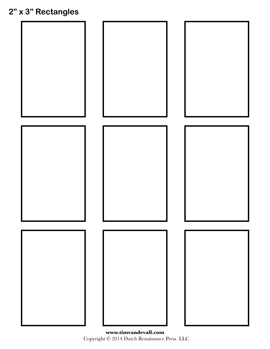 Printable Rectangle Template