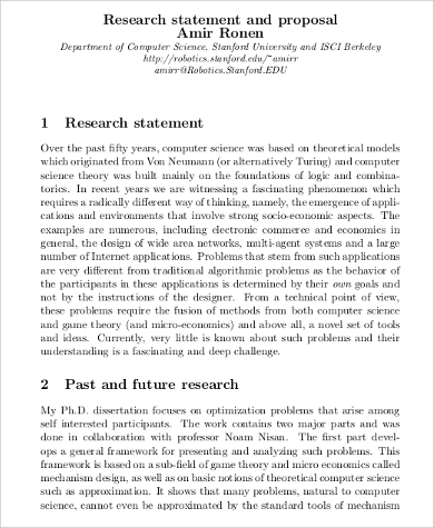 10+ Sample Research Statements | Sample Templates