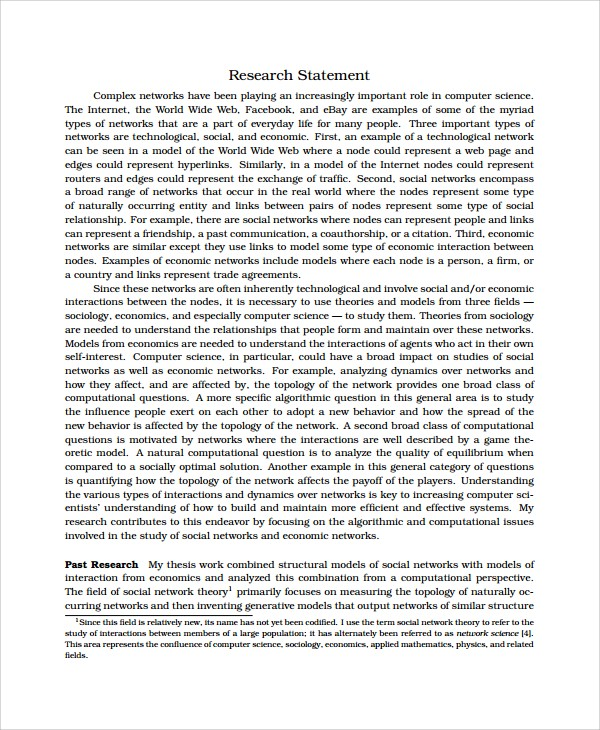 Research statement computer science