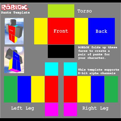 transparent pants template Roblox