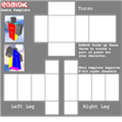 Transparent Pants Template Roblox