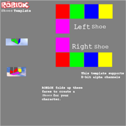 Shoes Template Roblox