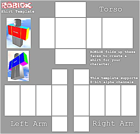 Shirt Template (transparent) Roblox