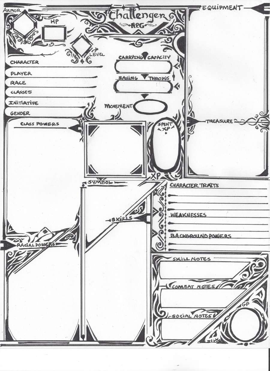 Another 3rd Edition Advance Phantasm Adventures Character Sheet