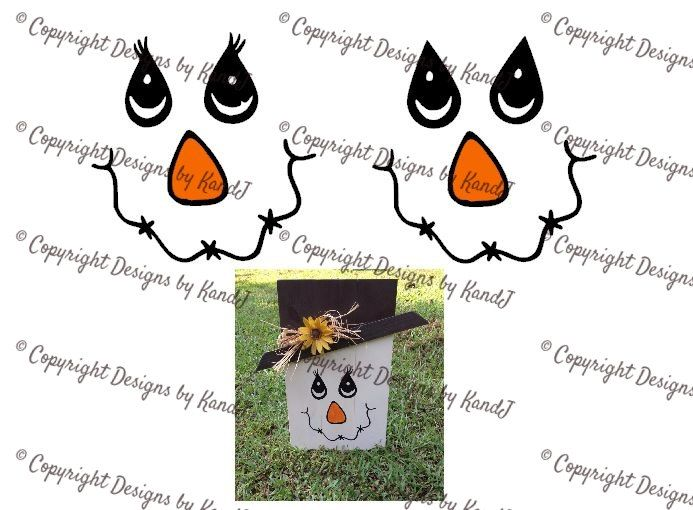 Printable Scarecrow Face Template scarecrow lady and man face svg