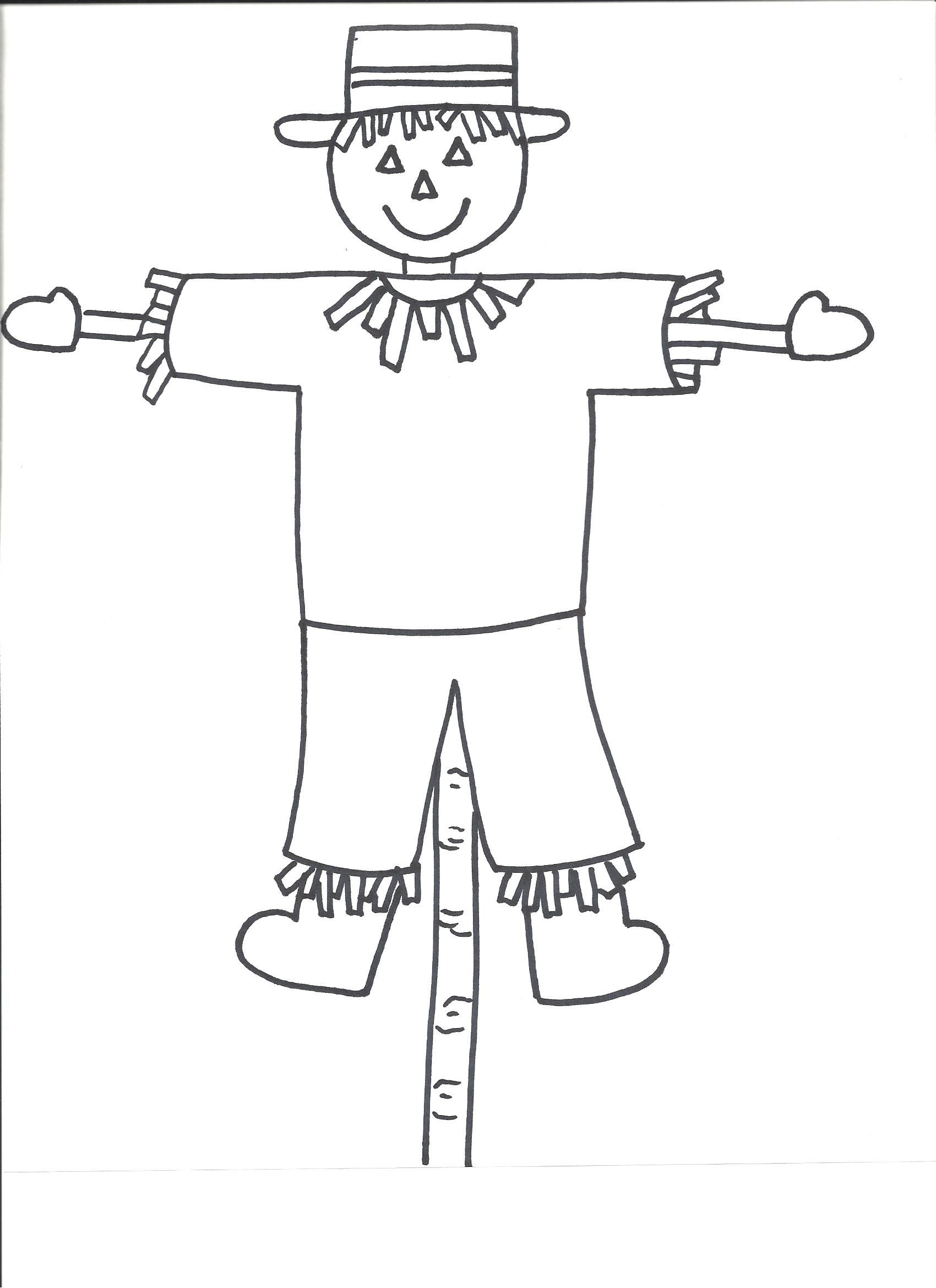 Scarecrow Template | Templates Crafts For Preschool Kids | art