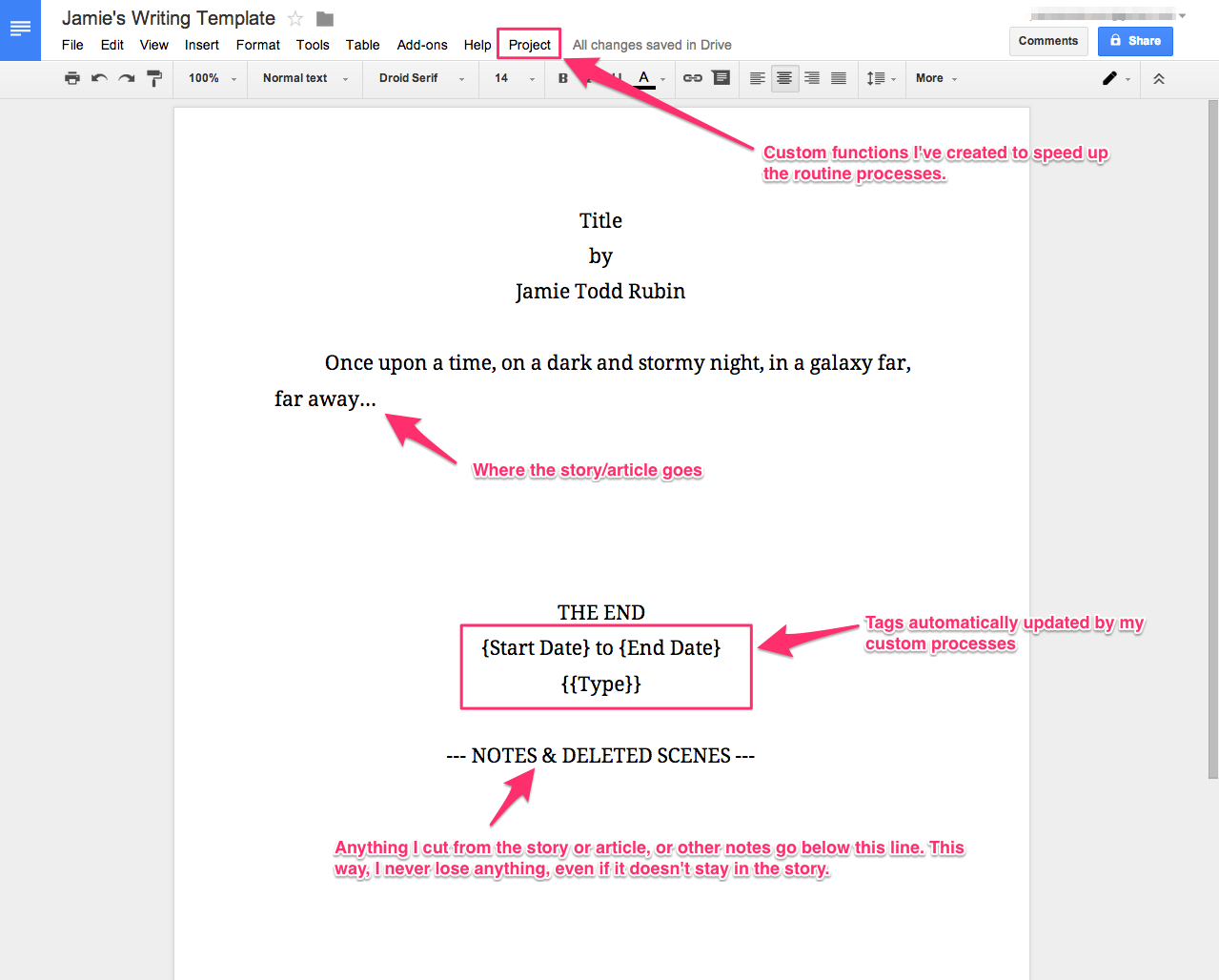 Google Docs Template | Jamie Todd Rubin inside Google Docs