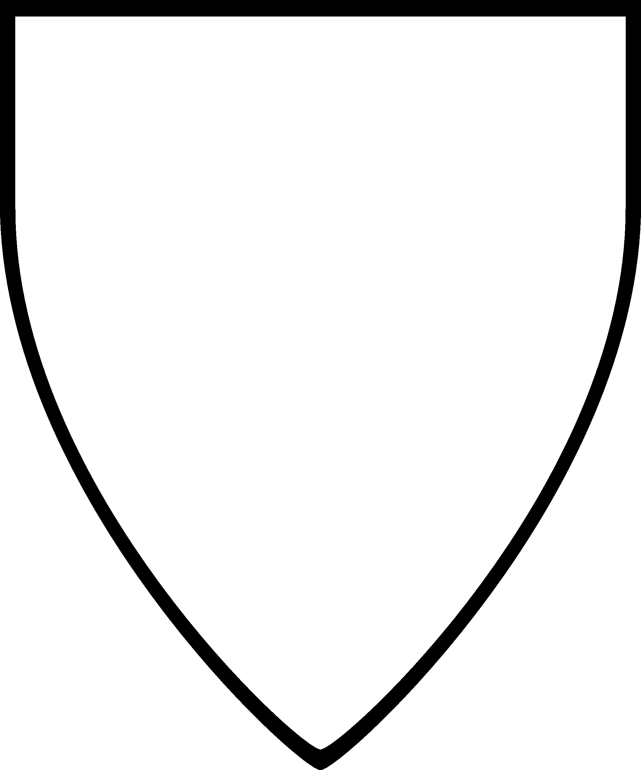 Shield pattern. Use the printable outline for crafts, creating