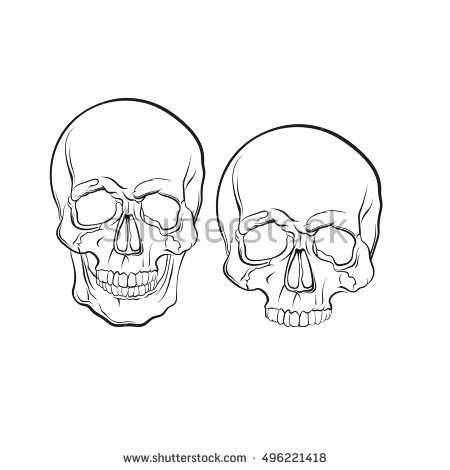 Sugar Skull Drawing Template at GetDrawings.| Free for