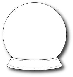 blank snow globes | Snow Globe Template | School | Pinterest