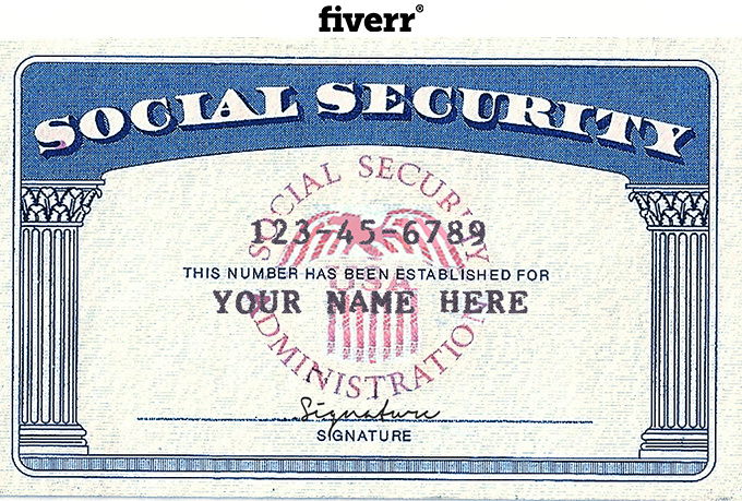 Social Security Card Template Merrychristmaswishesfo