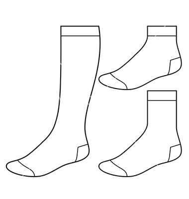 Realistic football socks white template Royalty Free Vector