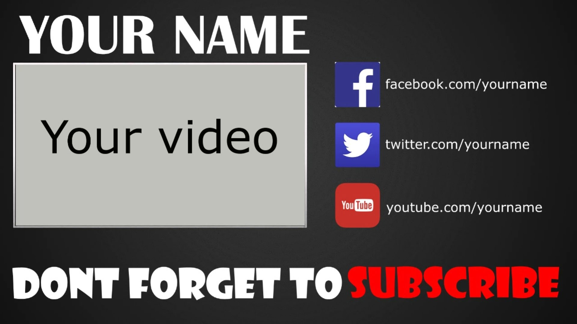 28 Images of Outro Template Blank | infovia.net